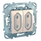 - Schneider Electric SE Unica Беж Розетка 2-ая, б/з, 10А, со шторками, для узких вилок (MGU5.3131.25ZD)